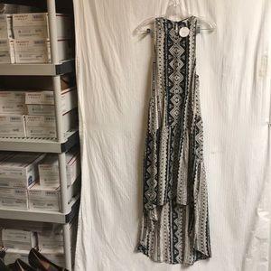 EN CREME MAXI DRESS WITH HIGH-LO HEM